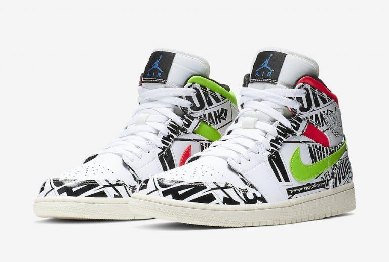 Air Jordan 1 Mid Print Logos