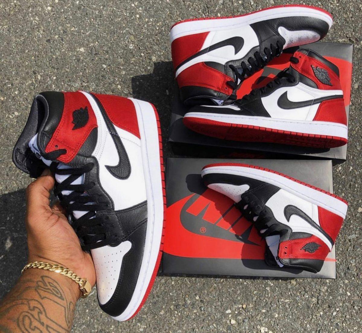 Air Jordan 1 Satin Black Toe Arrives August 17th