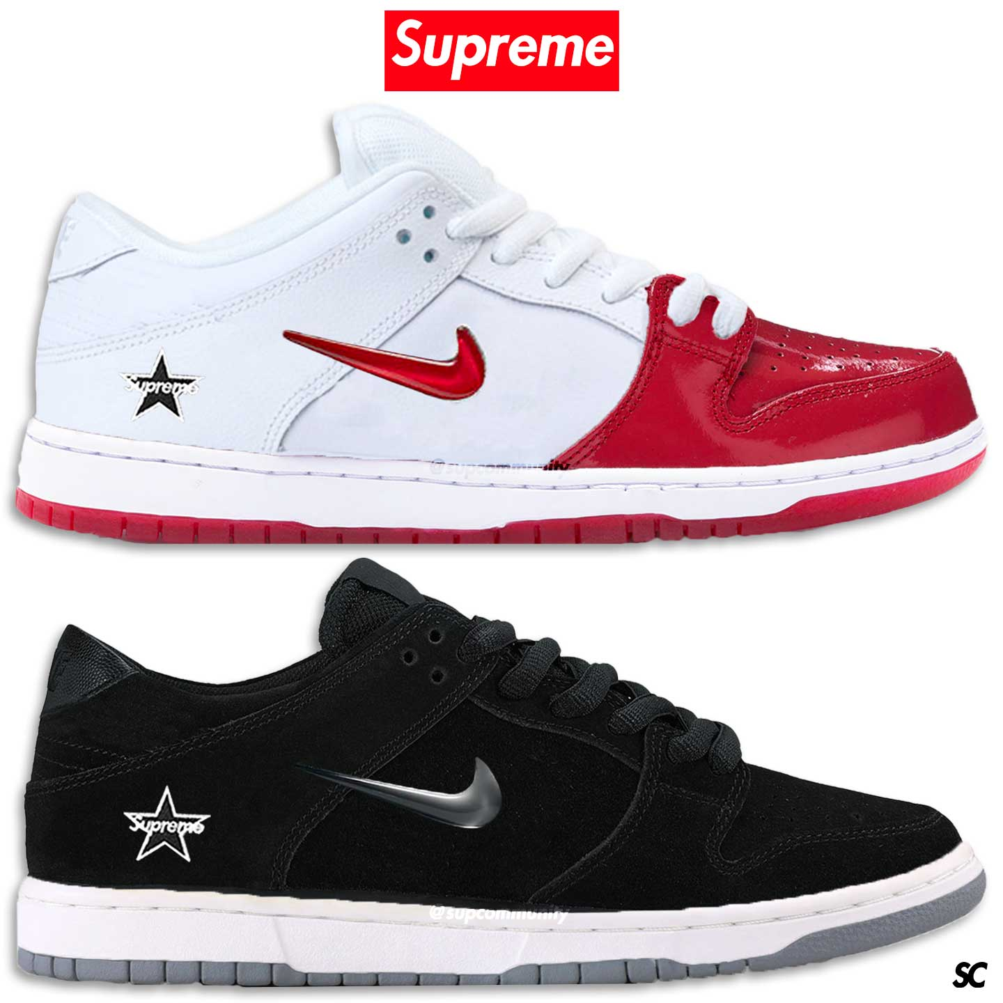 reputable site c1614 1d4e7 Nike & Supreme Are Linking Up Again On The Nike SB Dunk Low ...