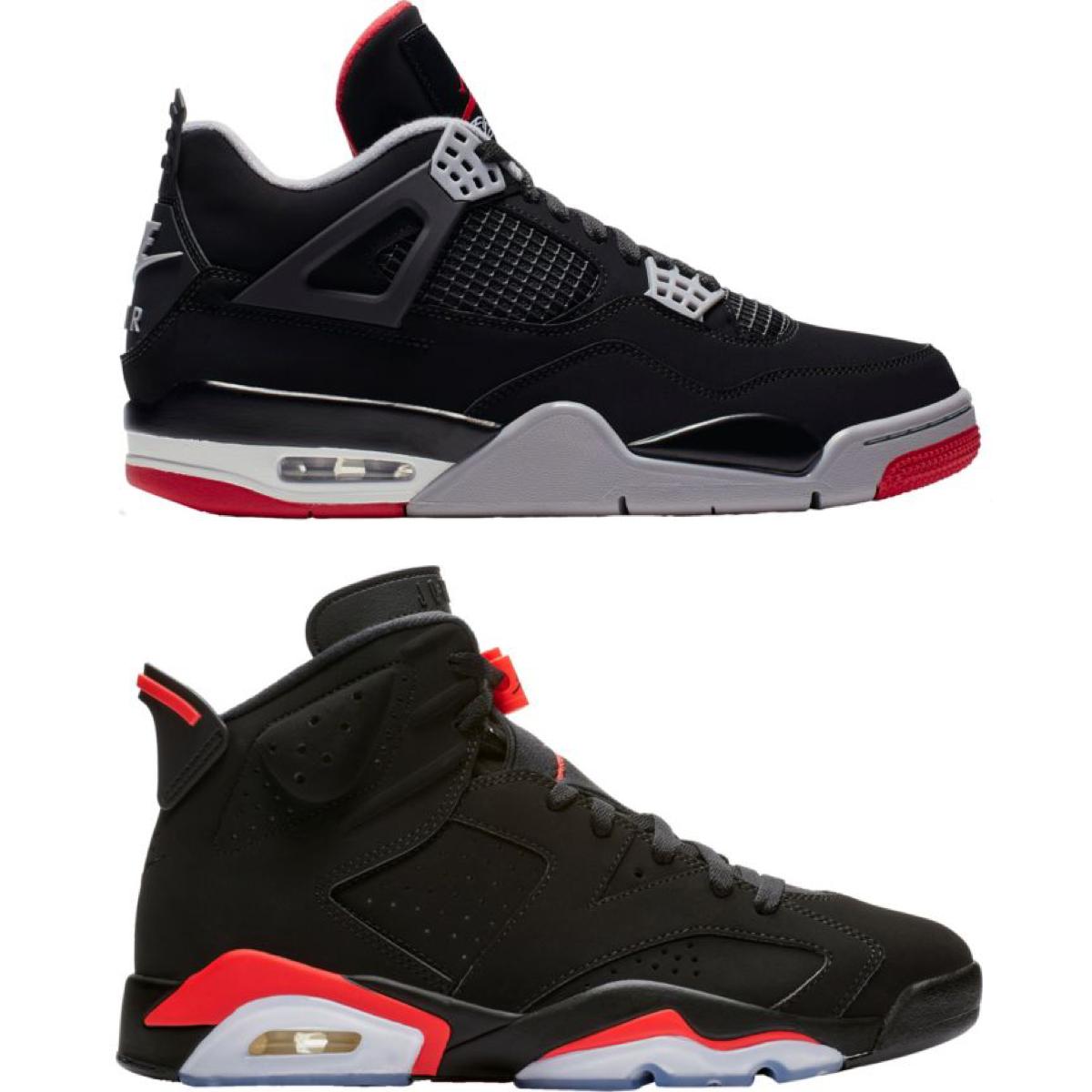 Restock: Air Jordan 6 Infrared and Air Jordan 4 Black Cement