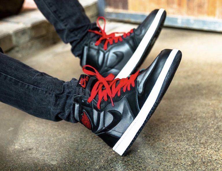 Photos Of The Air Jordan 1 Black Satin On Feet