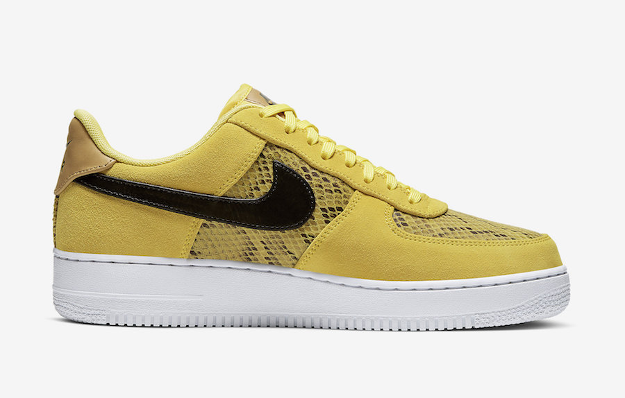 Air Force 1 Yellow Snakeskin BQ4424-700 Release Date