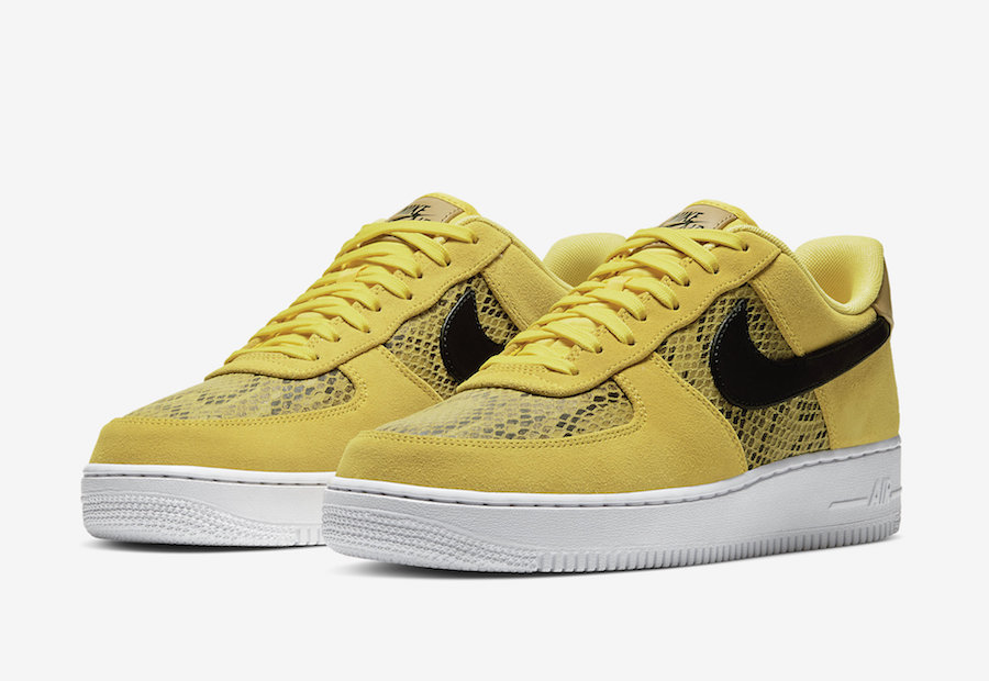 Nike Will Be Releasing A Yellow Snakeskin Air Force 1