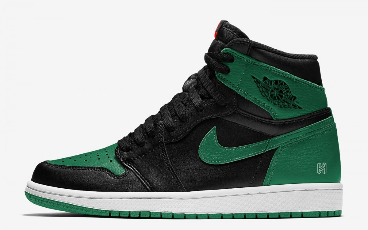 Air Jordan 1 Retro High OG Pine Green On Feet 555088-030 Release