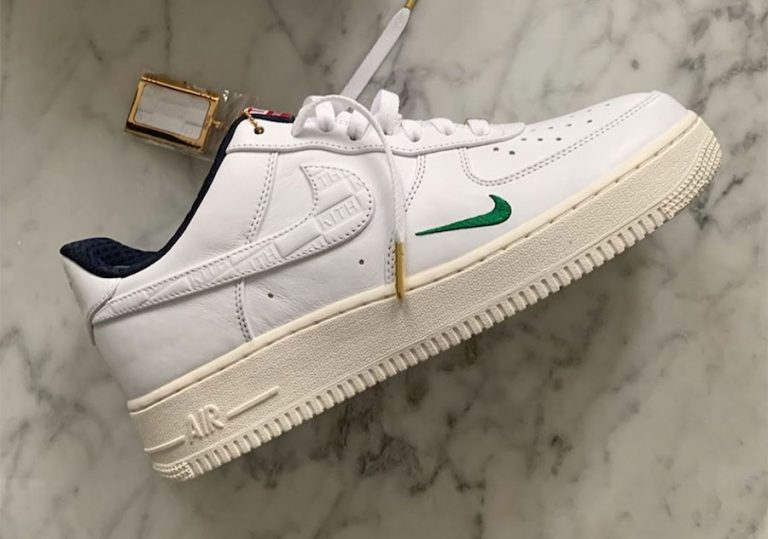 Kith Nike Air Force 1 Low White University Red Metallic Gold Release Date