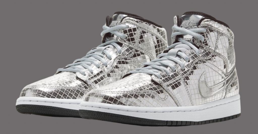 "Official Look at the Air Jordan 1 Mid ""Disco Ball"""