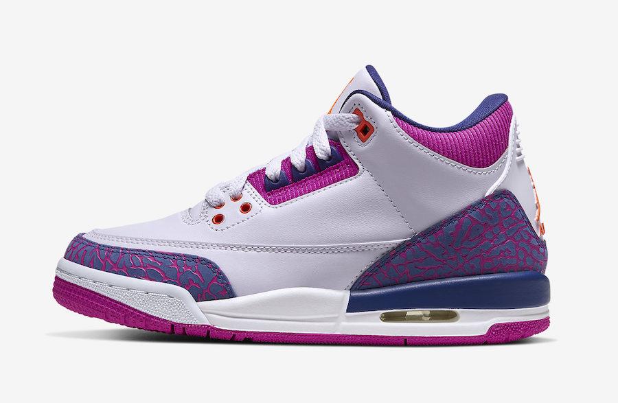 Air-Jordan-3-GS-Barely-Grape-Hyper-Crimson-Fire-Pink-441140-500-Release-Date