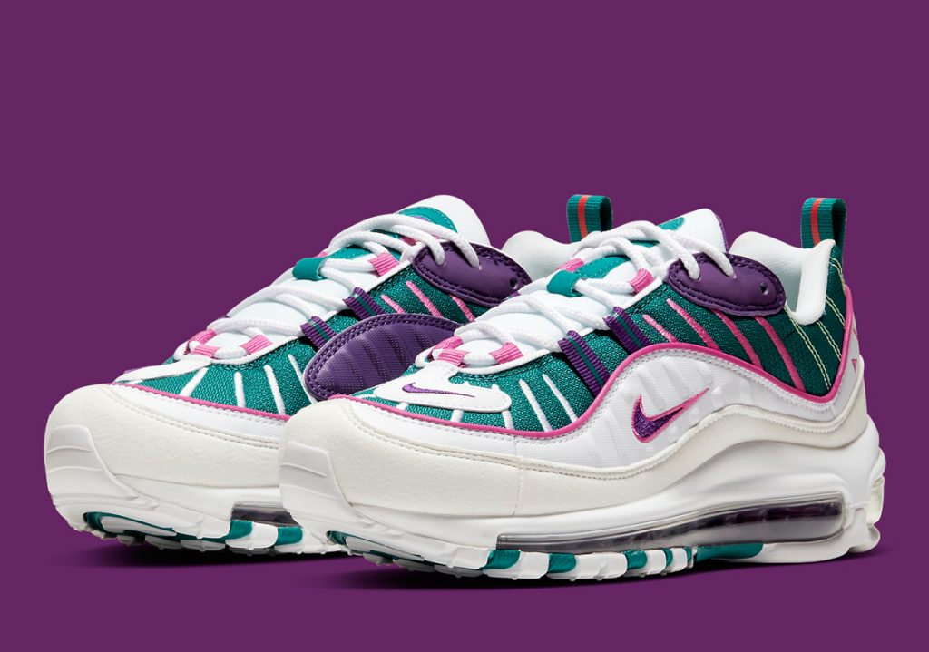 A Women's Exclusive Nike Air Max 98 In Teal/Purple Dropping ...