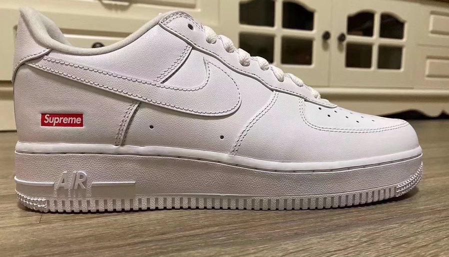 Supreme Nike Air Force 1 Low 2020 White CU9225-100 CU9225-001 Release Date