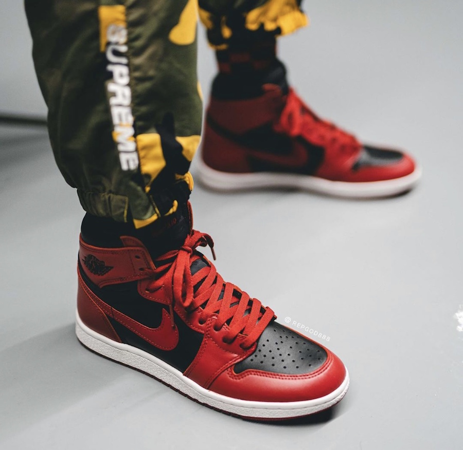 Air-Jordan-1-Hi-85-Varsity-Red-Reverse-Bred-BQ4422-600-Release-Date-On-Feet-1