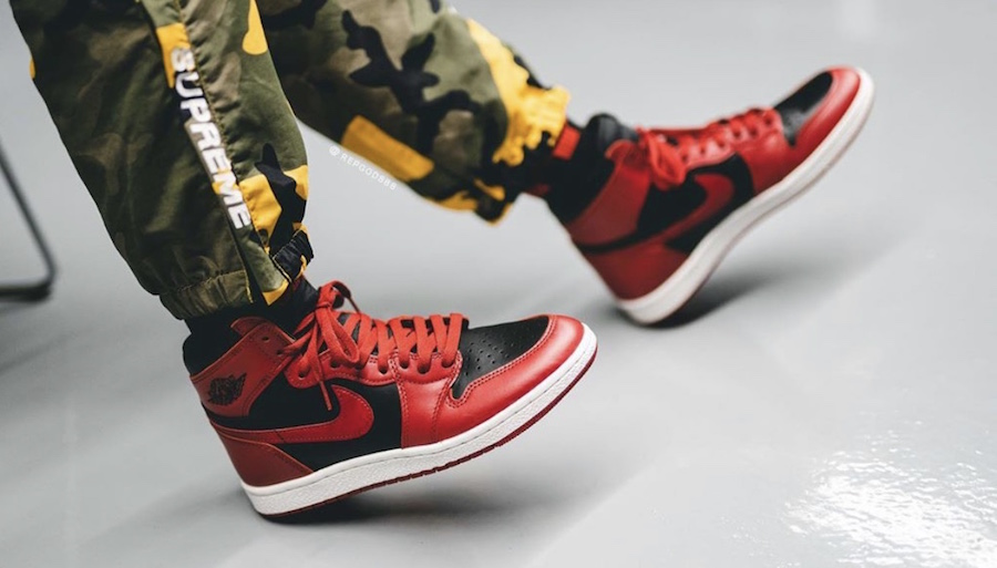 Air-Jordan-1-Hi-85-Varsity-Red-Reverse-Bred-BQ4422-600-Release-Date-On-Feet-2