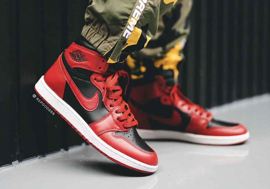 Air-Jordan-1-Hi-85-Varsity-Red-Reverse-Bred-BQ4422-600-Release-Date-On-Feet-5