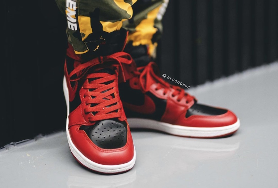 Air-Jordan-1-Hi-85-Varsity-Red-Reverse-Bred-BQ4422-600-Release-Date-On-Feet-6