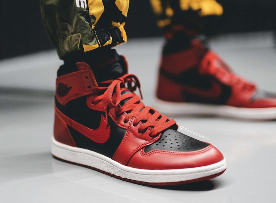 Air-Jordan-1-Hi-85-Varsity-Red-Reverse-Bred-BQ4422-600-Release-Date-On-Feet
