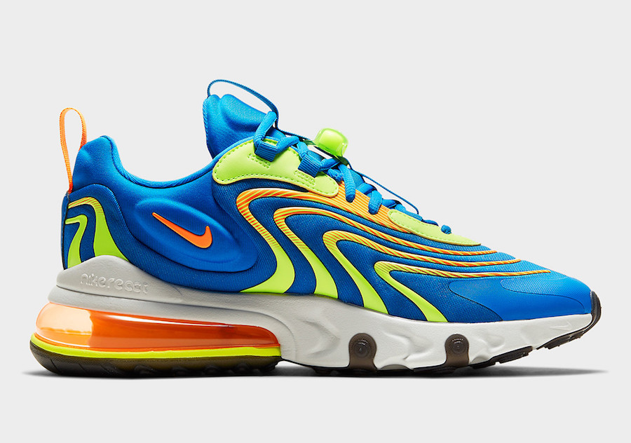 Nike Air Max 270 React ENG Blue Volt CD0113-401 Release Date