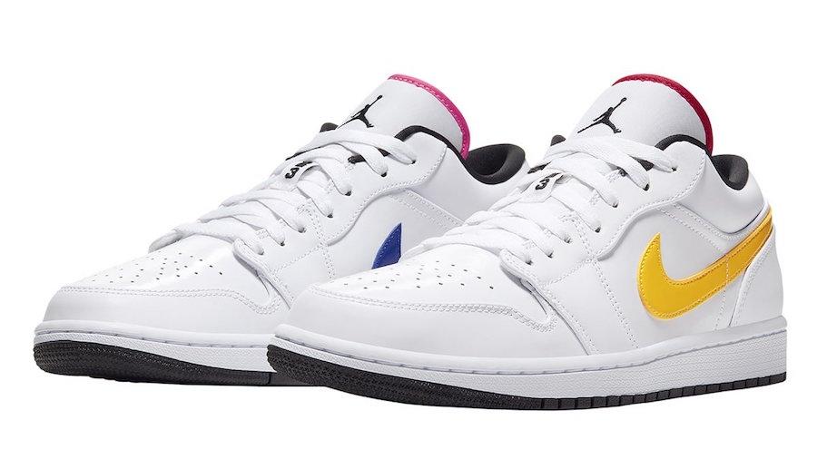 Air-Jordan-1-Low-White-Multi-Color-CW7009-100-Release-Date