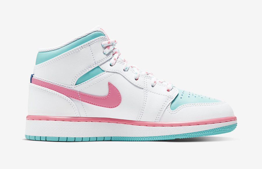 The Air Jordan 1 Mid Gs Surfaces In Digital Pink Dailysole