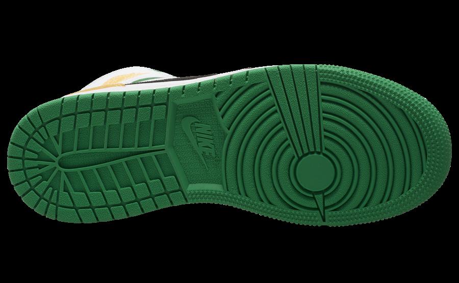 Air Jordan 1 Mid GS Laser Orange Lucky Green BQ6931-101 Release Date