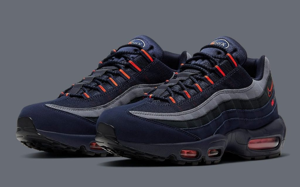 nike air max navy blue and orange