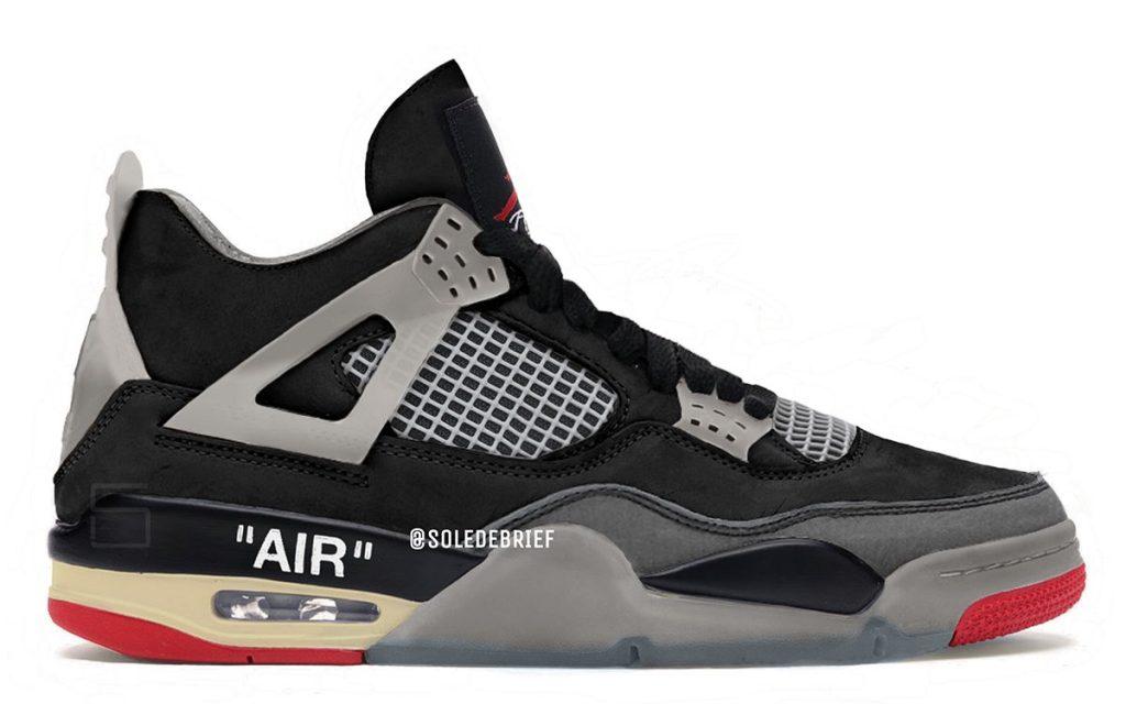 Off White Air Jordan 4 Bred