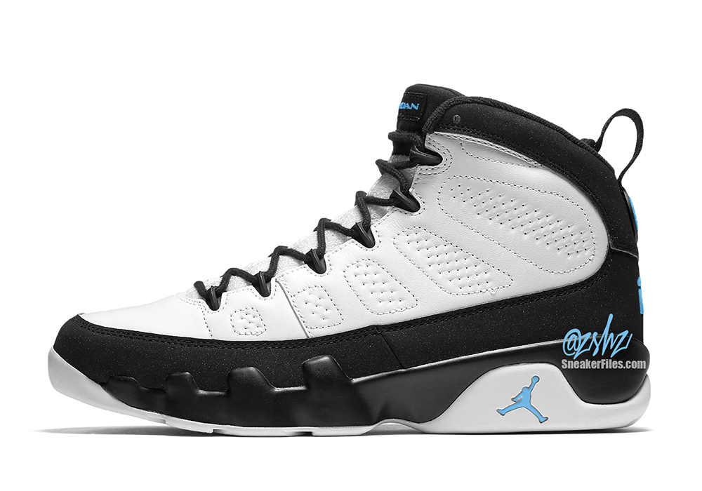 Air-Jordan-9-White-Black-University-Blue-CT8019-140-Release-Date-2