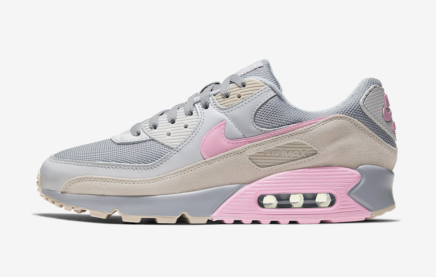 Nike-Air-Max-90-Grey-Pink-CW7483-001-Release-Date