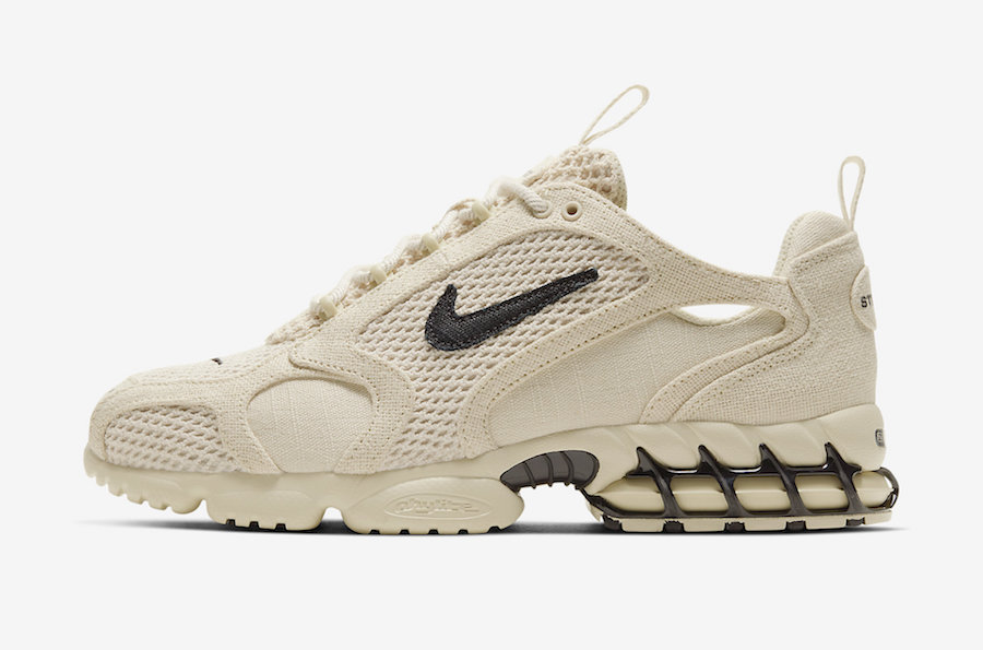 Stussy-Nike-Air-Zoom-Spiridon-Caged-Fossil-CQ5486-200-Release-Date