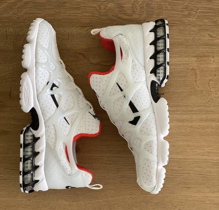 Stussy-Nike-Air-Zoom-Spiridon-KK-White-Habanero-Red-CJ9918-100-Release-Date