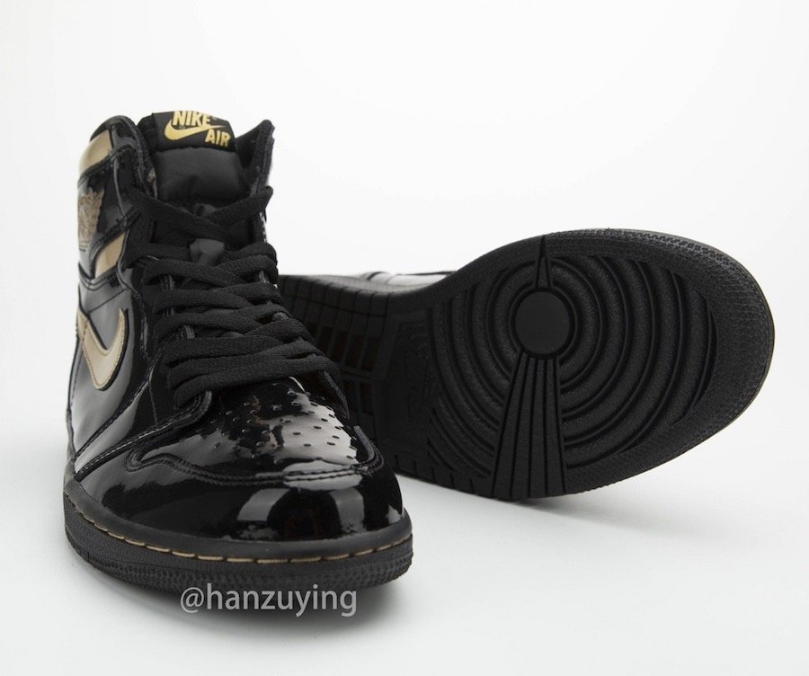 Air-Jordan-1-Black-Metallic-Gold-Patent-Leather-555088-032-Release-Date-1