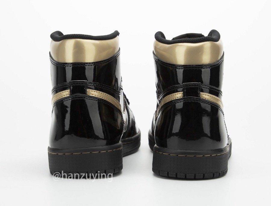 Air-Jordan-1-Black-Metallic-Gold-Patent-Leather-555088-032-Release-Date-7