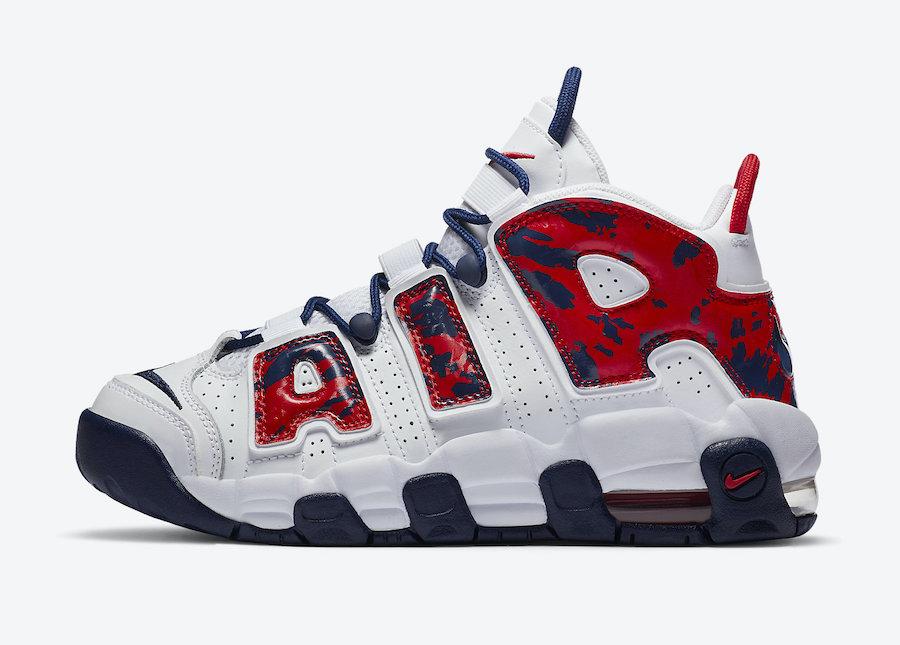 Nike Air More Uptemo USA Camo
