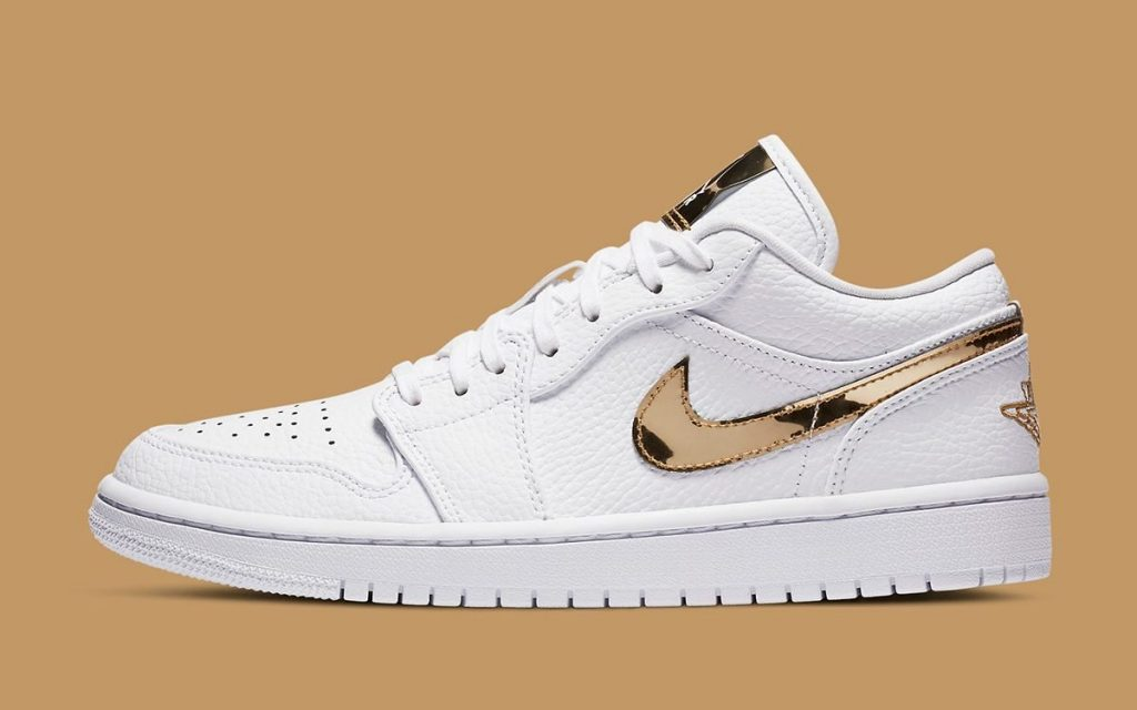 Air Jordan 1 Low White/Metallic Gold