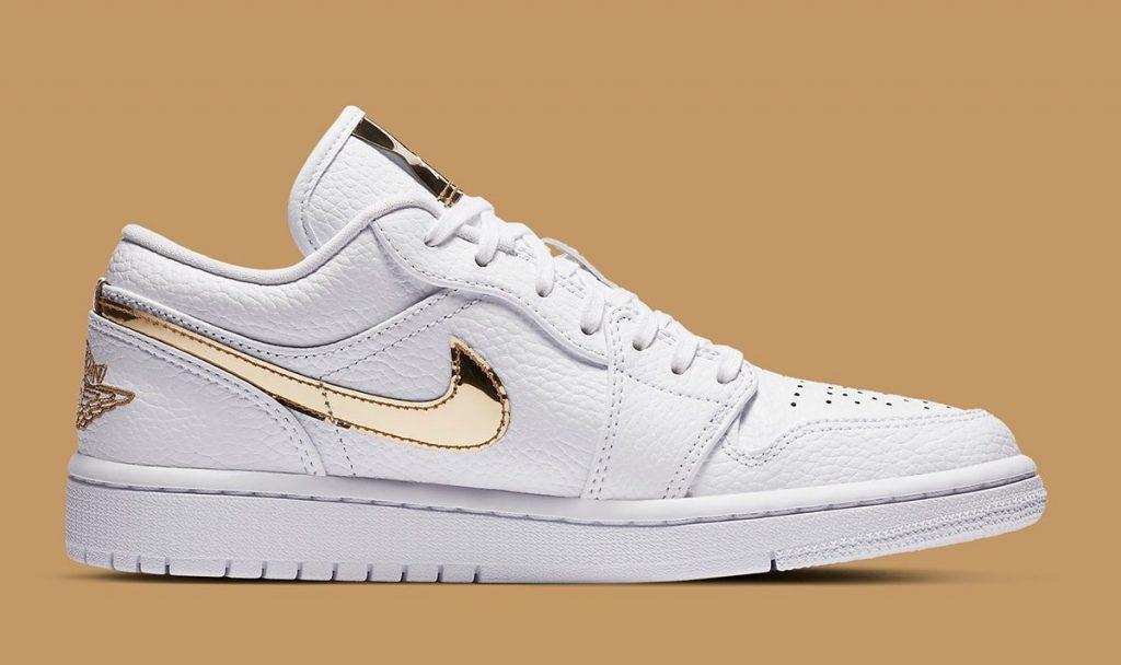 Air Jordan 1 Low White/Metallic Gold