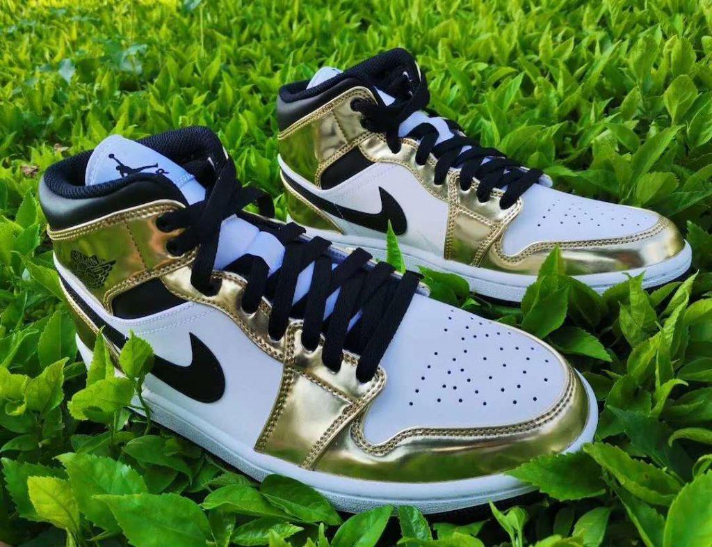 Air Jordan 1 Mid White/Gold