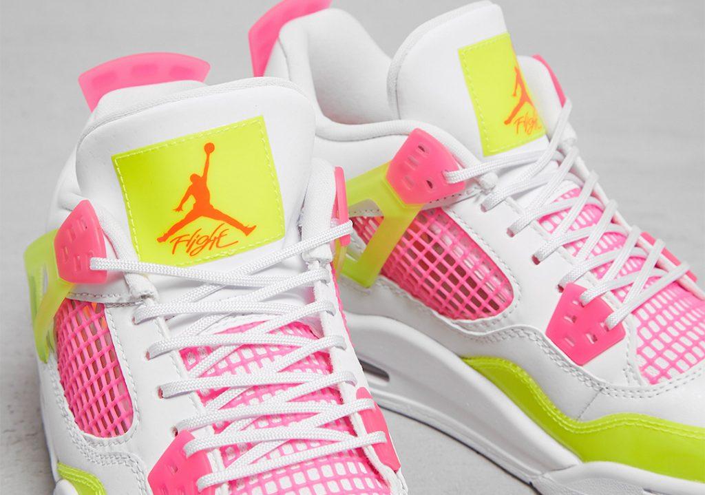 Air-Jordan-4-GS-Lemon-Venom-Pink-Blast-CV7808-100-Release-Date-2