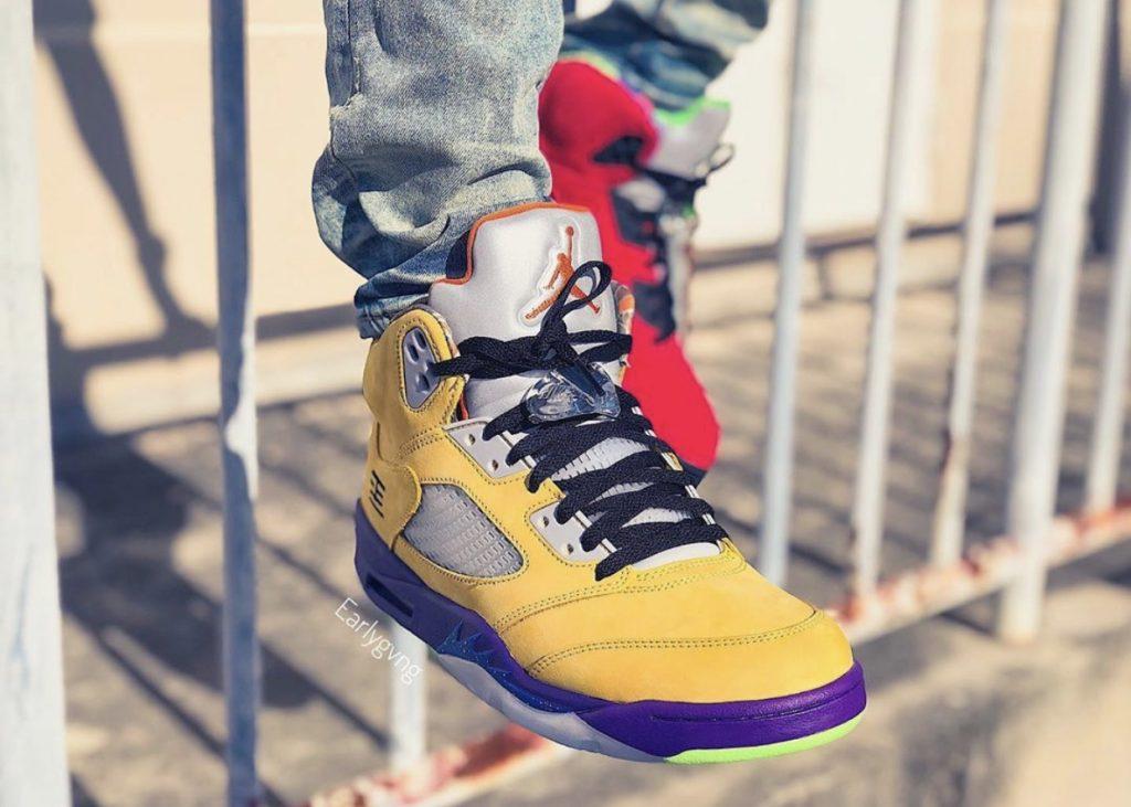 Air Jordan 5 What The On-feet-2