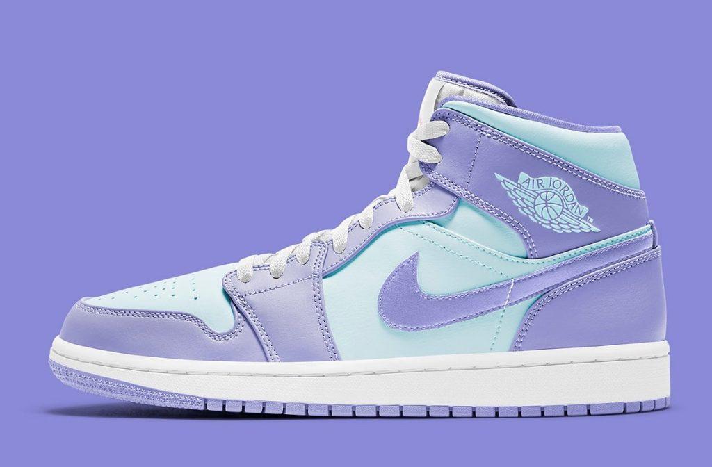 Air Jordan 1 Mid Aqua/Lavender
