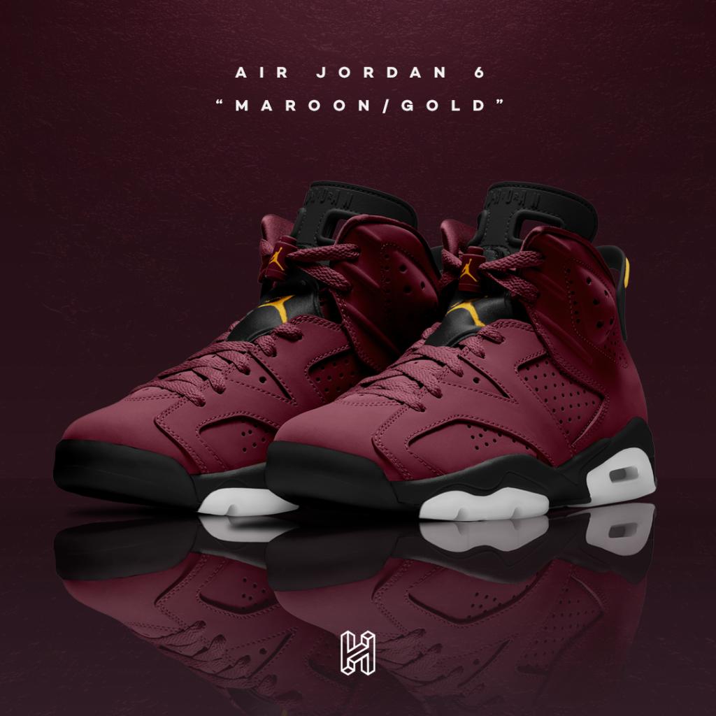 Air Jordan 6 Maroon/Gold