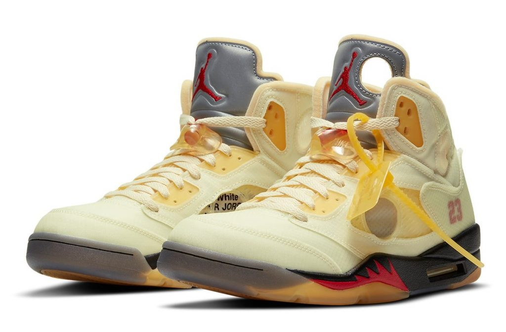 OFF-WHITE AIR JORDAN 5 SAIL OFFICIAL IMAGE