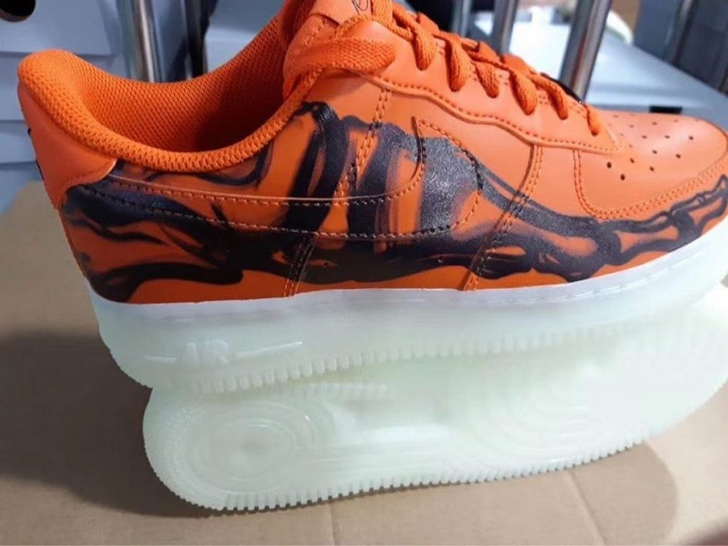 Nike Air Force 1 Orange Skeleton