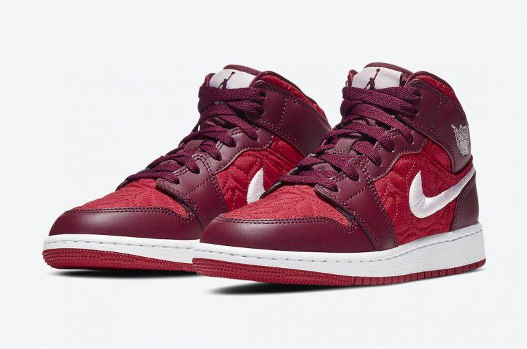 Air Jordan 1 Mid SE Red Quilt