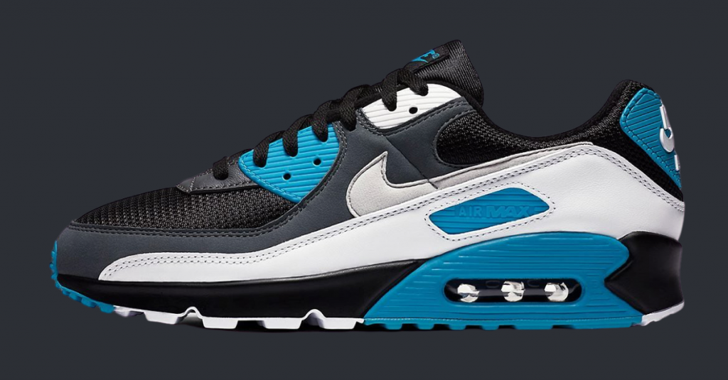 Nike Air Max 90 Black Laser Blue-featured
