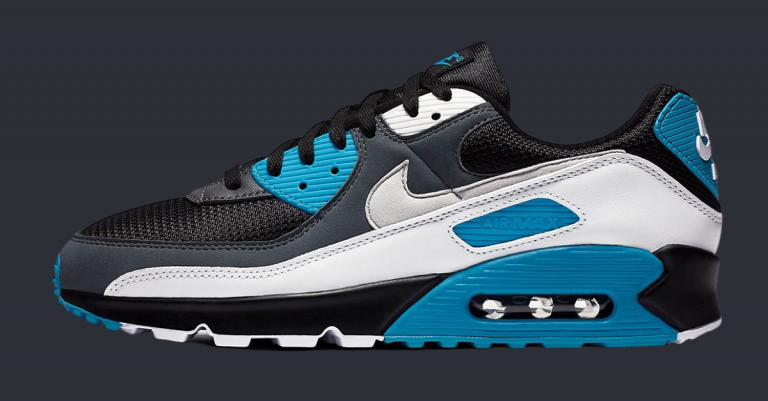Nike Air Max 90 Black Laser Blue-featured
