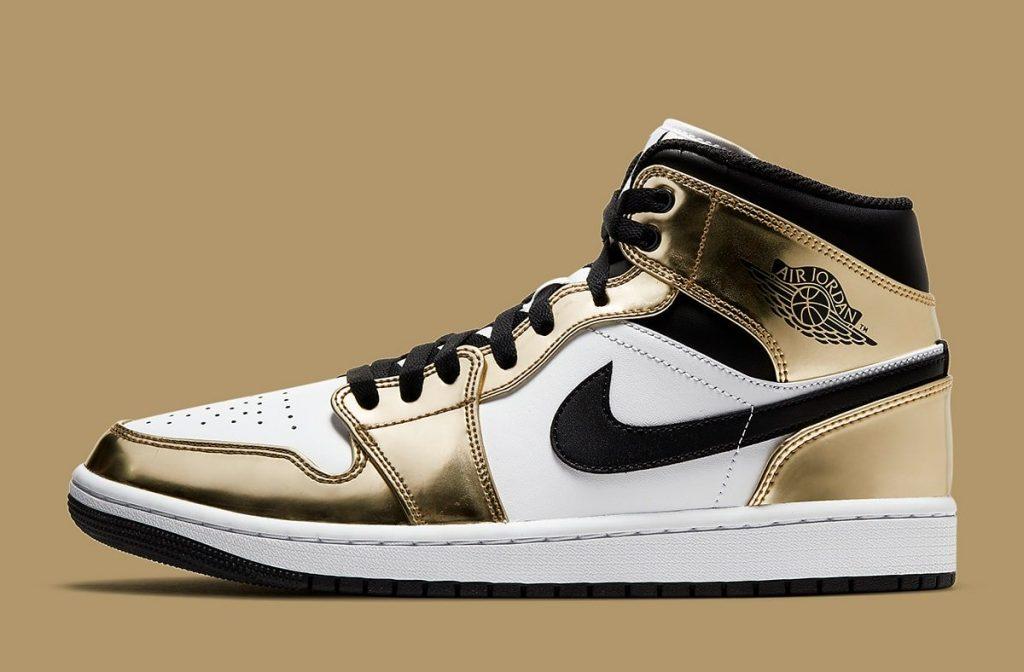 Air Jordan 1 Mid Metallic Gold Official Look-1