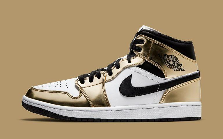 Air Jordan 1 Mid Metallic Gold Official Look