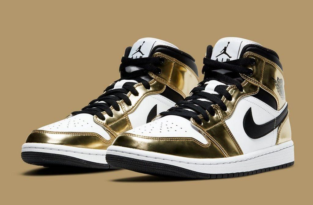 Air Jordan 1 Mid Metallic Gold Official Look-2