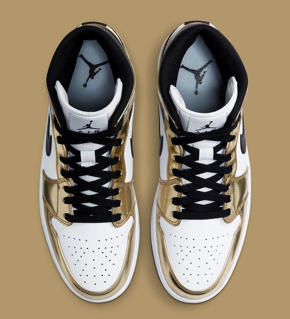 Air Jordan 1 Mid Metallic Gold Official Look-3