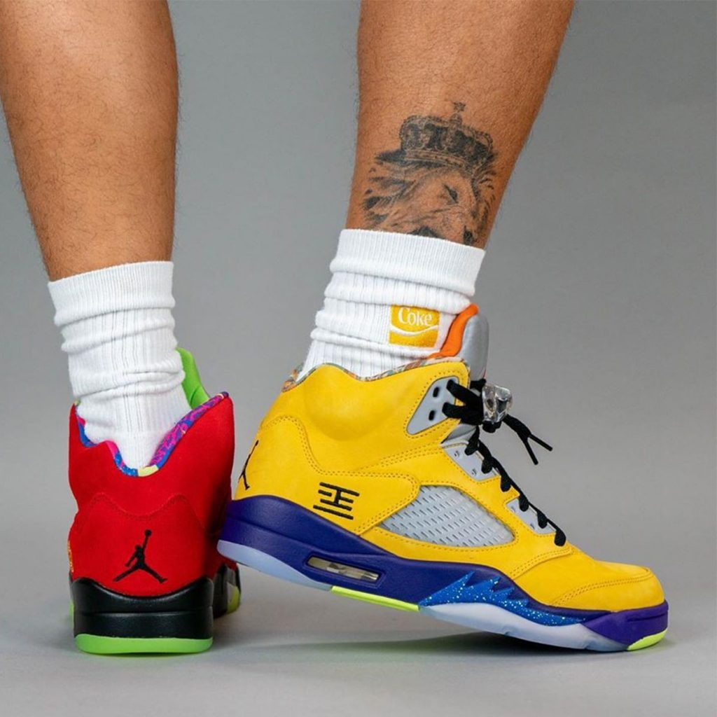 On-foot look at the Air Jordan 5 What The-4