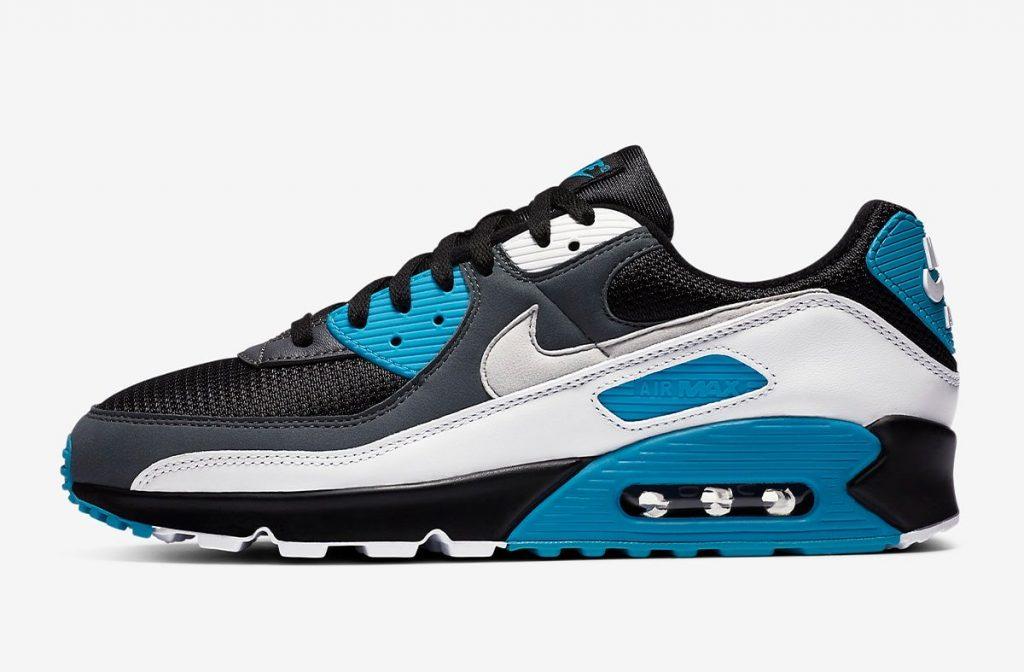Nike Air Max 90 Black Laser Blue-1