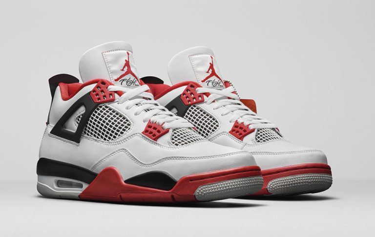 Air Jordan 4 Fire Red Updated Look